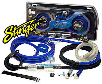 Sk6201 Stinger 1/0 Gauge 6000 Amp Wire Power Amplifier Installation Kit Sk-6201