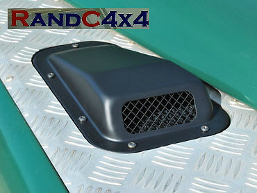 DA4001 Land Rover Defender Raised Wing Top Air Intake Grill Black Metal Right