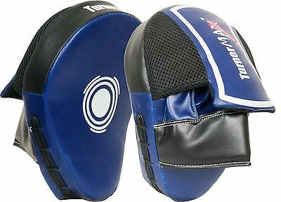 TurnerMAX Boxing Focus Pads Hook and Jab Punch Mitts Training Muay Thai Curved