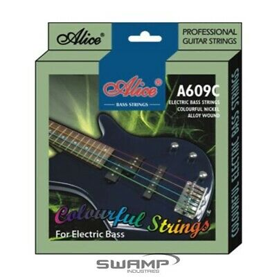 Alice Multi-Coloured Electric Bass Guitar Strings - 40-95