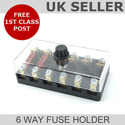 Continental Fuse Box (6 Way Universal Fuse Holder)