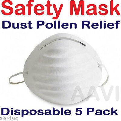Disposable Sweeping Mowing Dust Pollen Safety Face Mouth Nose Mask Masks 5PK