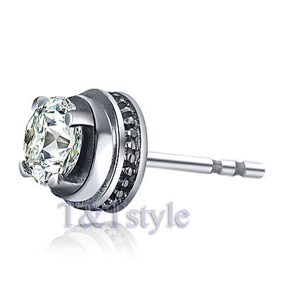 High Quality T&T 7mm 316L Stainless Steel Stud Earring Single (EZ49)