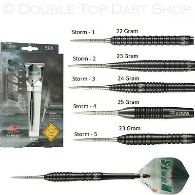 Target Perfect Storm 90% Tungsten Steel Tip Darts - Black Titanium Coating