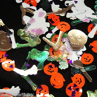2x Halloween HAUNTED MANSION Ghosts Skeletons Confetti Table Sprinkles