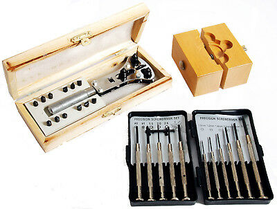 Watch Repair Tool Kit  W/ Screwdrivers Wrench and Vise