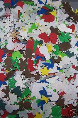LOT of 50 CHRISTMAS Foam Shapes scrapbooking