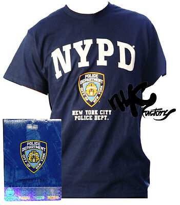 Nypd Navy Blue White Yellow New York Police Department T-Shirt Tee Men Unisex