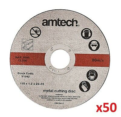 "50 X Metal Cutting Discs 115mm, 4 ½ "" ULTRA THIN 1mm Angle Grinder Slitting New"