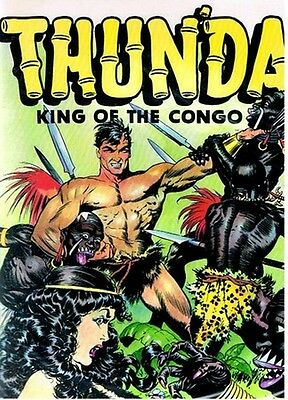 Rare Eo Americaine Micro Tirage + Bd + Frank Frazetta : Thunda, King Of Congo