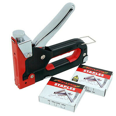 3 in 1 Stapler / Nailer with 200 Staples 200 nails and 200 U Staple plus Case