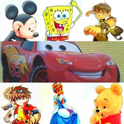 BEN 10,CARS, MICKEY MOUSE,PRINCESS,BAKUGAN WALL  STICKERS 50cm