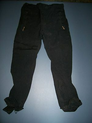 Vtg 1950s Black WINTER OUTDOOR SPORTS SKI SKATING STIRRUP PANTS Girls Sz 10