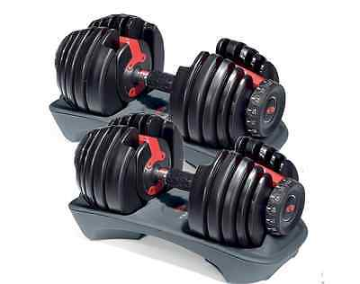 NEW & SEALED! Two Bowflex SelectTech 552 Dumbbells - Dial-Up Weight 5 - 52.5 lbs