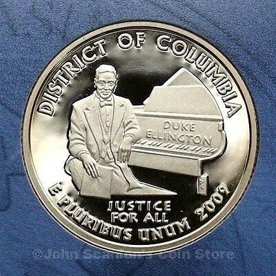 2009-S District of Columbia Quarter - Gem Proof Deep Cameo (Clad)
