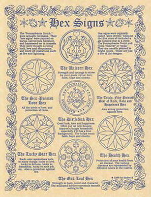 HEX SIGNS POSTER A4 SIZE Wicca Pagan Witch Witch Goth BOOK OF SHADOWS