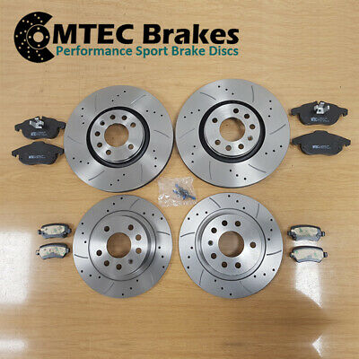 Vauxhall Astra VXR 2.0T 16v mk5  Front Rear Drilled Grooved Brake Discs And Pads
