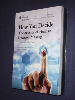 Teaching Co Great Courses DVDs :        HOW YOU DECIDE    new & sealed