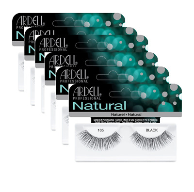 *****6 PAIRS JOB LOT OF ARDELL EYELASHES style 105 100% HUMAN HAIR GREAT VALUE!