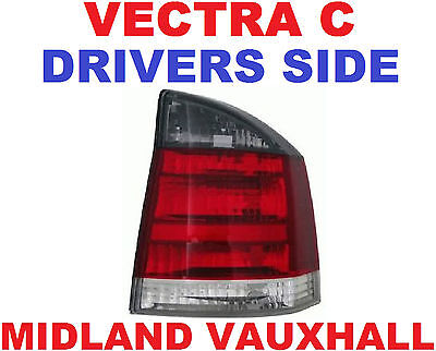 Vauxhall Vectra C 2002> Back Light Rear Lamp Smoked Sri Sxi Rh Drivers Off Side