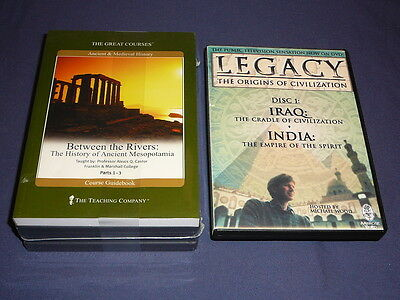 Teaching Co Great Courses DVDs        BETWEEN  THE RIVERS        new + BONUS