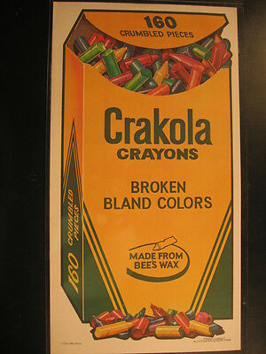 1973 Topps Wacky Packages No Folds Poster Crakola Crayons (10x18.5 in)