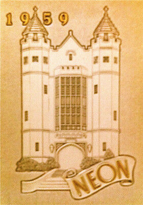 """1959 YOUNGSTOWN UNIVERSITY (Ohio) YEARBOOK """"Neon"""" ~basketbalL/ tennis ~ CLEAN"""