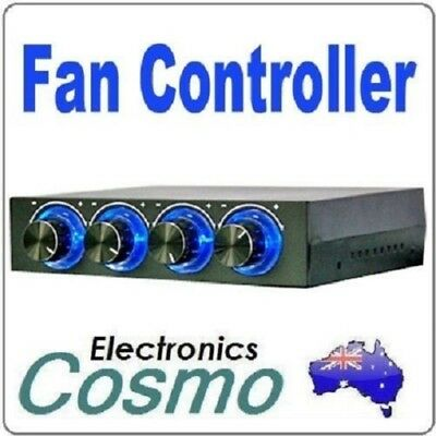 "3.5"" Bay Panel 4 x PC Cooling Fan Speed Temperature Controller"