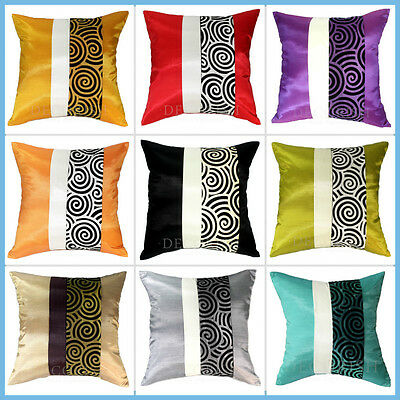 1 SILK SOFA COUCH BED DECORATIVE THROW PILLOW CUSHION COVER PILLOWCASE NEW 16x16