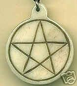 Carved Pentagram Pendant  Amulet - Pagan Wicca Witch