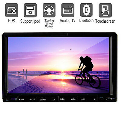Double din 7 Inch 2 Din CAR DVD Player Car Stereo Radio Touch Screen Ipod TV Mp3