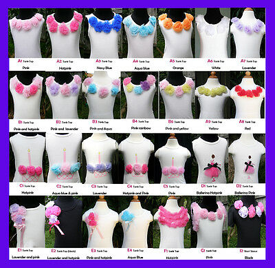 Girls Tank Top Pettitop for Pettiskirt Tutu in Various Styles and Colors 1-8yrs