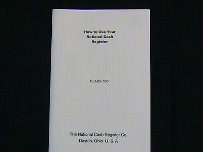"""How To Use"" Antique National Cash Register Class 300/700 Ncr"