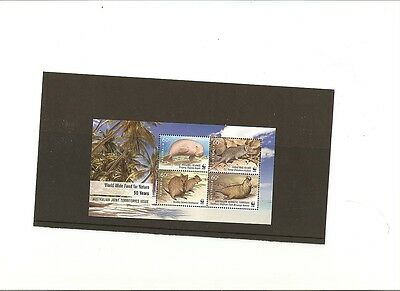 Australia mint Miniature Sheet WWF 50 YEARS OF NATURE JOINT TERRITORIES ISSUE