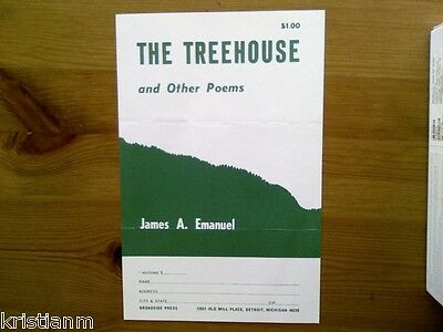 60's Black Poet James A. Emanuel Order form for The Treehouse and Other Poems
