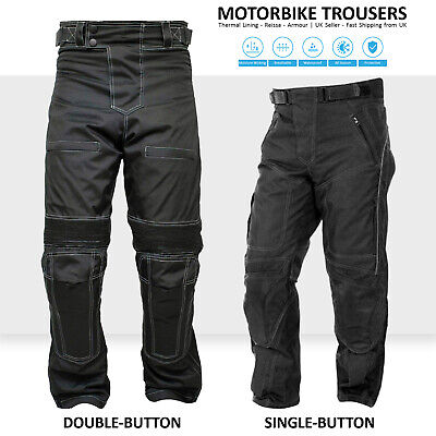 Men's Motorcycle Trousers Armour Biker Motorbike Waterproof Pants Cordura