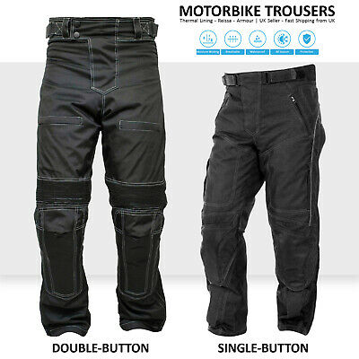 Motorbike Waterproof Motorcycle Cordura Textile Trousers Armoured Biker Pants