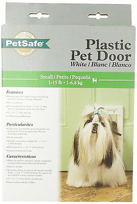 """New Petsafe Freedom Hpa11-10966 Small White Plastic Dog Pet Door 7 5/8"""" 5 1/8"""""""