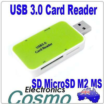 USB 3.0 2.0 1.1 All-in-one Card Reader Micro SD SDHC SDXC M2 MS for Win7 64 Mac