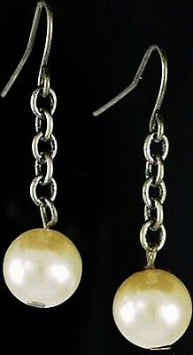 MERMAID PEARL EARRINGS Wicca Witch Pagan Goth Punk Goddess