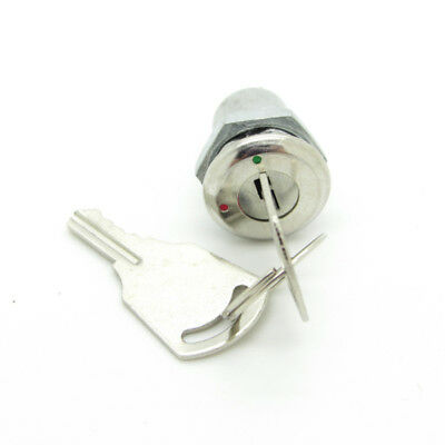 1 × Mini Key Switch 2 Pin ON-OFF Lock Switch 12mm Metal Shell With two Keys SPST