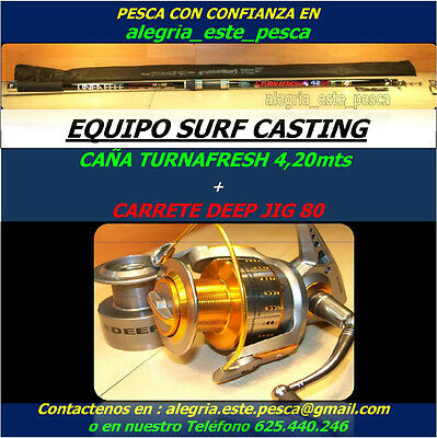 PESCA EQUIPO SURF CASTING (TURNAFRESH 4.20mts + DEEP JIG 80)