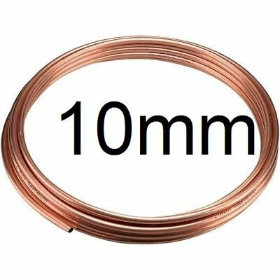 NEW 25cm of 10mm outside dia. microbore gas LPG water copper plumbing pipe/tube