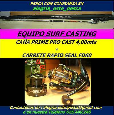 PESCA EQUIPO SURF CASTING PRIME CAST 4.00mts + RAPID SEAL FD60