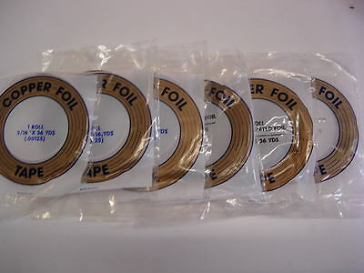 Stained Glass Copper Foils - Genuine Foils For Crafters - 36 yards per roll
