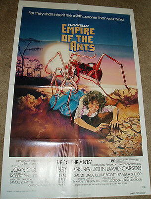 EMPIRE OF THE ANTS MOVIE POSTER HG WELLS HORROR  27X41 FOLDED 1977 ORIGINAL