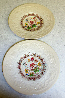 Booths China Saucers*Corinthian*Made in England*Wild Rose*Set 2 Saucers*Vintage