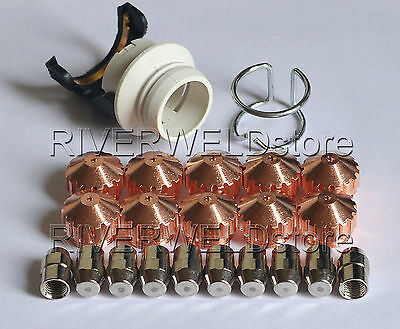 0408-2267 2053 2404 2261 Plasma Electrode Nozzle Kit fit Saf 100 PLAZCUT 22pcs