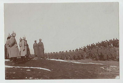 1916 REAL PHOTO OCC MACEDONIA WWI PERIOD MILITARY FORMATION BITOLA x