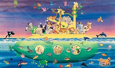 NOAH'S ARK SUBMARINE WALL MURAL New XL Baby Animals Nursery Wallpaper Decor
